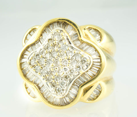 14 Kt Yellow Gold Men's Diamond Ring