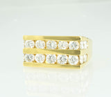 18 Kt Yellow Gold Men's Diamond Ring
