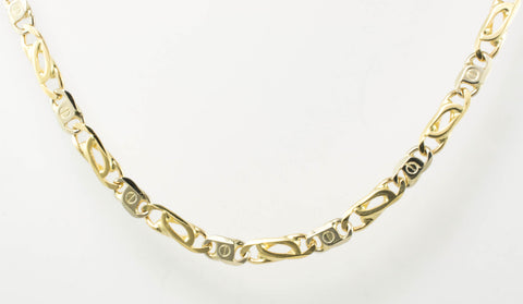 14 Kt Gold Two-Tone Men's Italian Chain