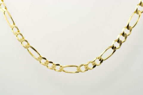 14 Kt Yellow Gold Men's Italian Figaro Chain