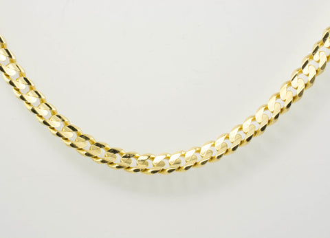 14 Kt Yellow Gold Men's Cuban Hammer Chain