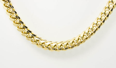 14 Kt Yellow Gold Cuban Hammer Chain