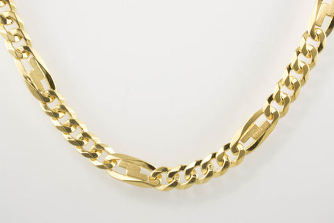 with gold chains link beads necklace pin chain g italian solid