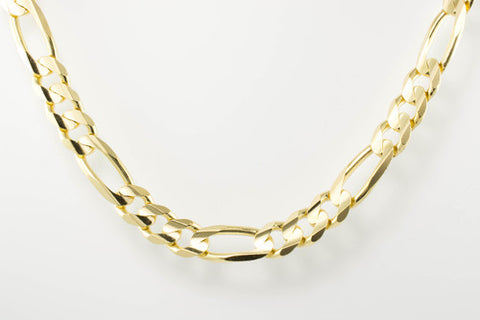 14 Kt Yellow Gold Italian Men's Figaro Chain