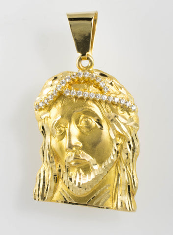 14 Kt Yellow Gold C/Z Christ Charm