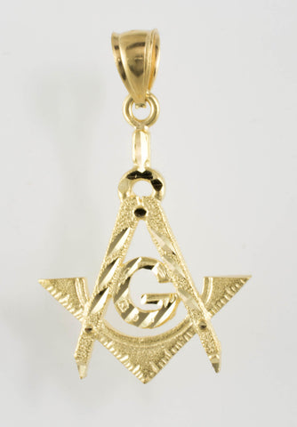 14 Kt Yellow Gold Mason Charm