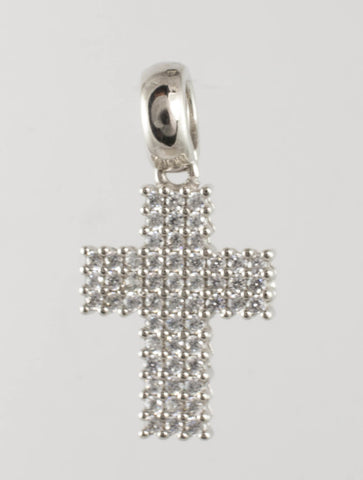14 Kt White Gold Ladies' Cross Charm