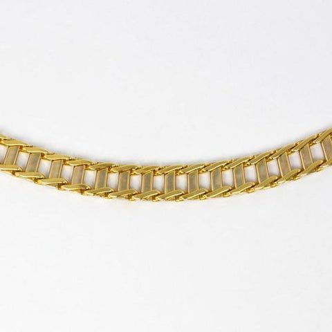 14 Kt Yellow Gold Italian Men's Bracelet