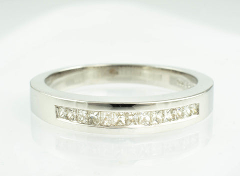 14 Kt White Gold & Diamond Band