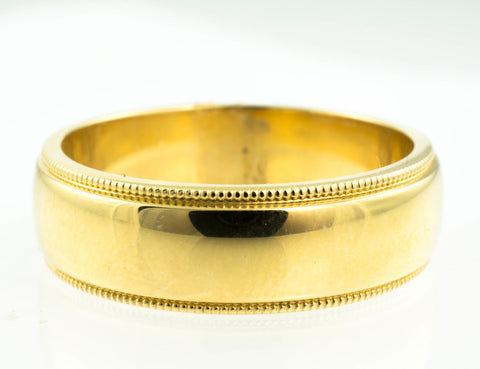 14 Kt Yellow Gold Solid Band