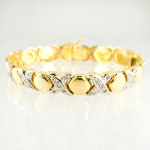 14 Kt Yellow C/Z Hug & Kisses Set