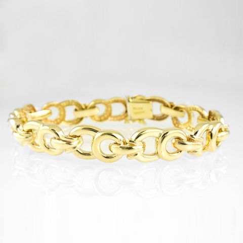 14 Kt Yellow Gold Elegant Ladies' Bracelet
