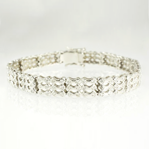 14 Kt White Gold Diamond Ladies' Bracelet