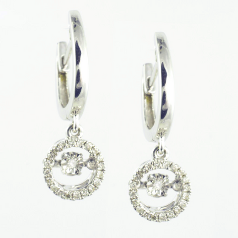 10 Kt White Gold Fashion Earrings