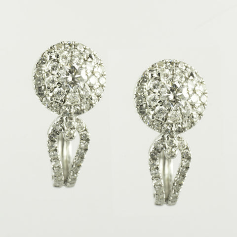 14 Kt White Gold Diamond Earring & Pendant Set