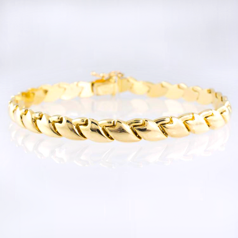 14 Kt Yellow Gold Italian Set