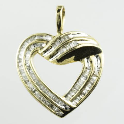 10 Kt Yellow Gold Diamond Heart