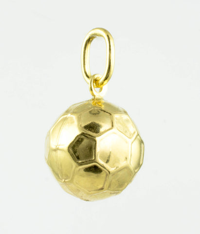 14 Kt Yellow Gold 3D Soccer Ball Charm