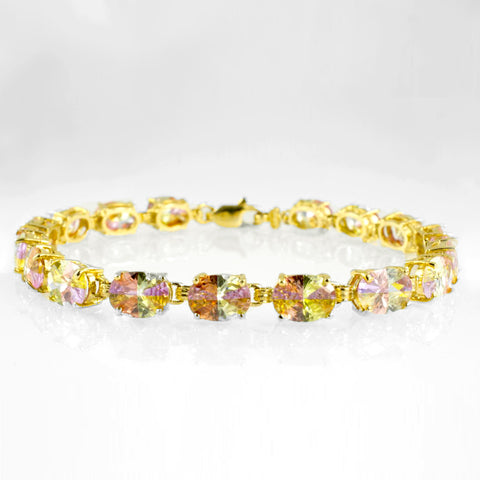 14 Kt Yellow Gold Multicolor Ladies' Bracelet