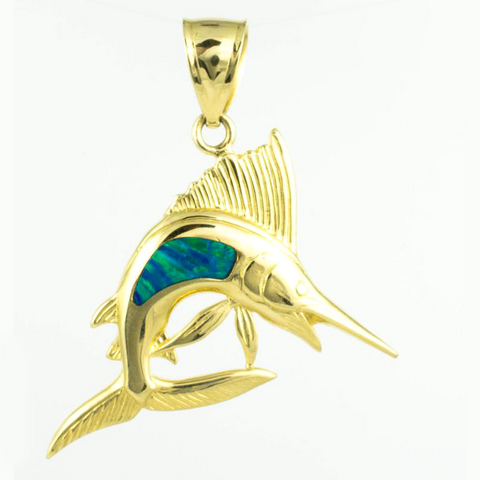14 Kt Yellow Gold Enamel Shell Fish Charm
