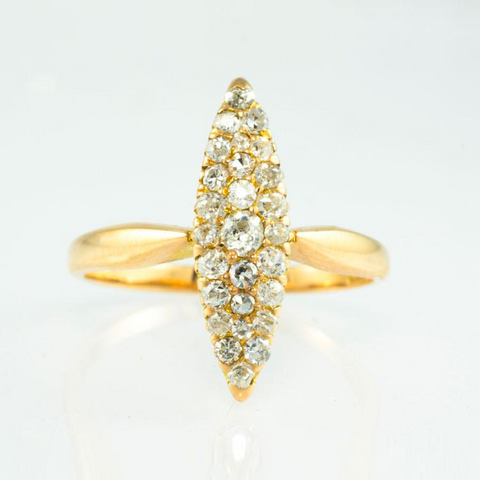 18 Kt Rose Gold Diamond Ladies' Ring