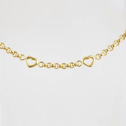 14 Kt Yellow Gold Heart Set