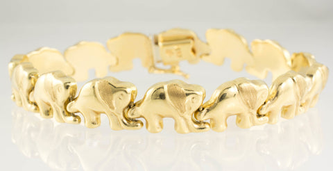 14 Kt Yellow Gold Elephant Design Set