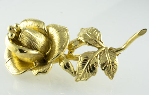 14 Kt Yellow Gold Flower Brooch