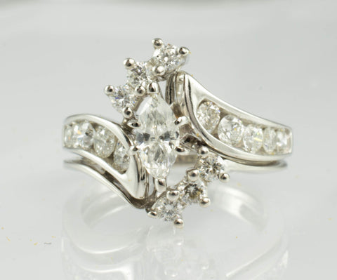 14 Kt White Gold Diamond Set