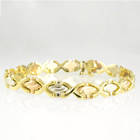 14 Kt Tricolor Gold Ladies' Bracelet