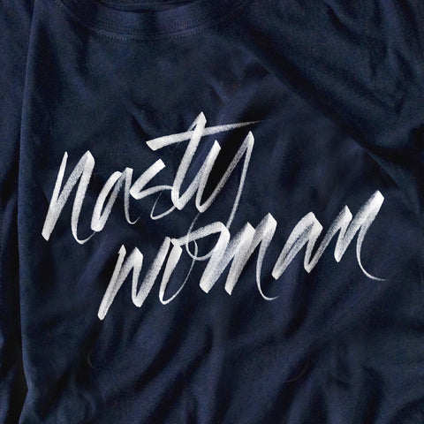 Nasty Woman Tee (Navy)