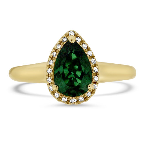 Chrome Diopside & Diamond Ring