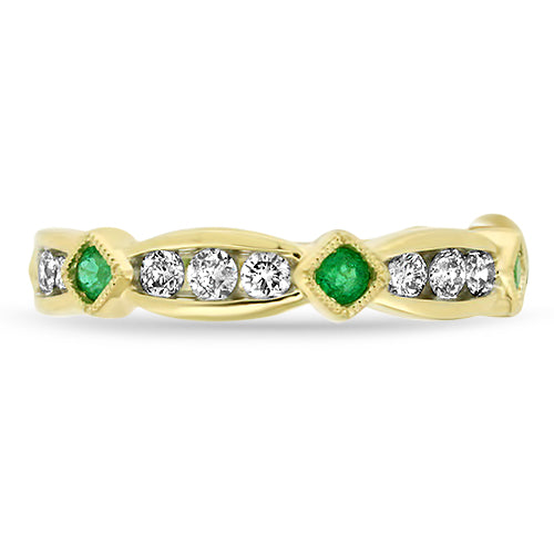 Emerald Diamond Stacker Band