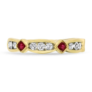 Ruby and Diamond Stacker Band