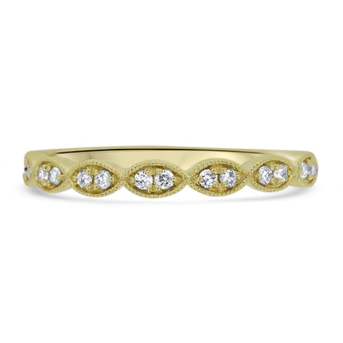 Yellow Gold Diamond Stacker Band