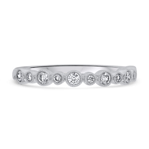 White Gold Diamond Stacker Ring