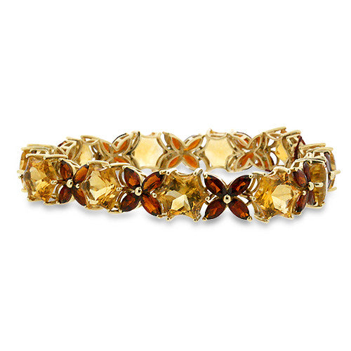 grande marcasite boylerpf bracelet citrine silver art products deco yellow
