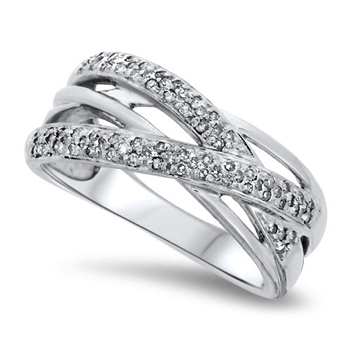 Scatter Weave Diamond Fashion Ring
