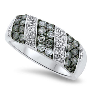 Black & White Alternating Diamond Fashion Ring