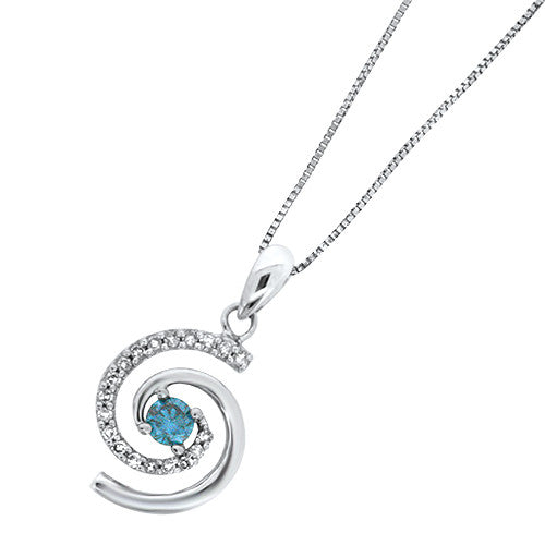 and lake blue diamond flower products spirit gold pendant silver