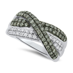 White and Silver Mist Diamond Fashion Ring