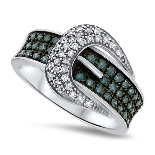 Belt Buckle Diamond Ring