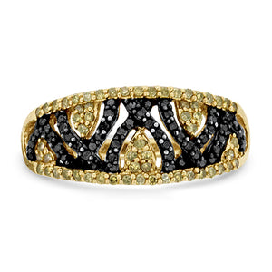 Black & Champaign Diamond Ring