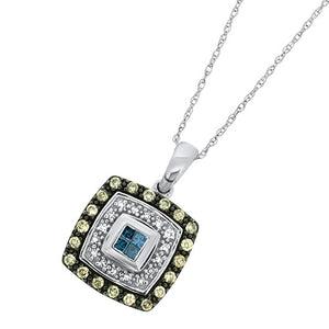 Blue & White Diamond Pendant