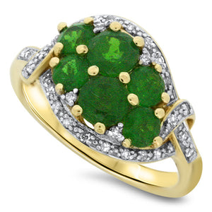 Green Chrome Diopside Ring
