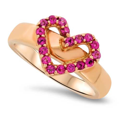 Heart Shaped Rubelite Ring