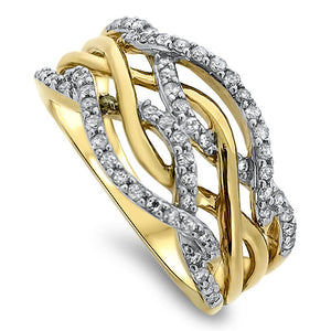 Twisted Diamond Fashion Ring