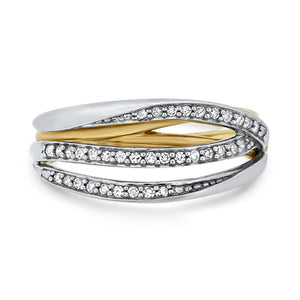 Two Tone Diamond Ring