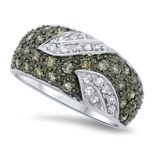 Champagne & White Diamond Fashion Ring