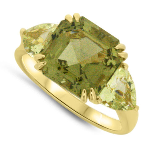 Olive & Lemon Quartz Ring